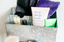 How to Create a Bedside Self Care Station for Relaxation and Better Sleep